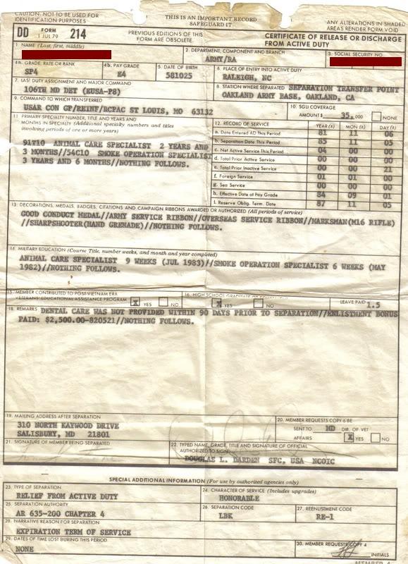 blank dd214 form download